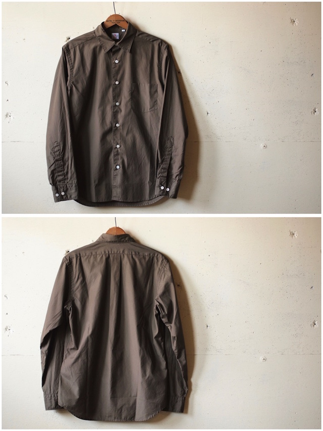 WORKERS Standard Shirt Broadcloth Brown-4