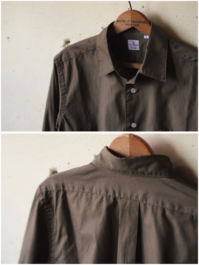 WORKERS Standard Shirt Broadcloth Brown-5