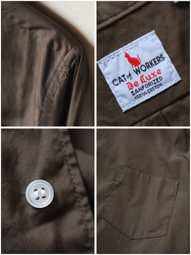 WORKERS Standard Shirt Broadcloth Brown-7