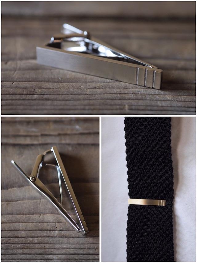 WORKERS Tie Clip Stripe-2