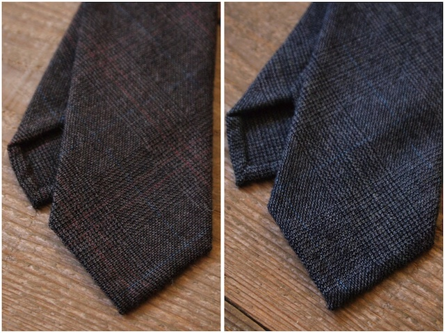 WORKERS Hand Tailored Tie, Glen Check-2