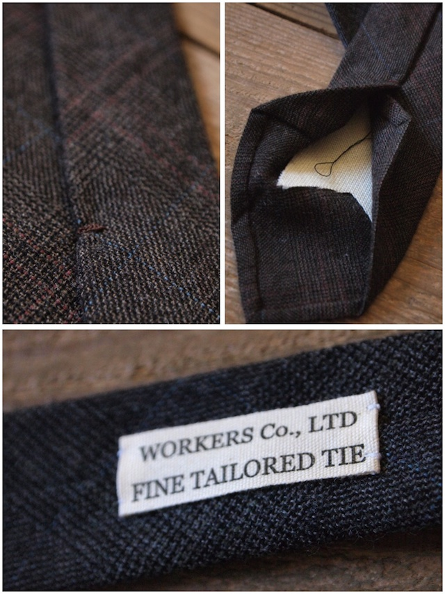 WORKERS Hand Tailored Tie, Glen Check-3