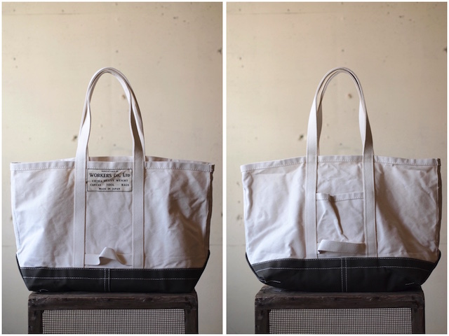 WORKERS Tool Bag 2-Tone Large Long Handle Ecru×Khaki-2
