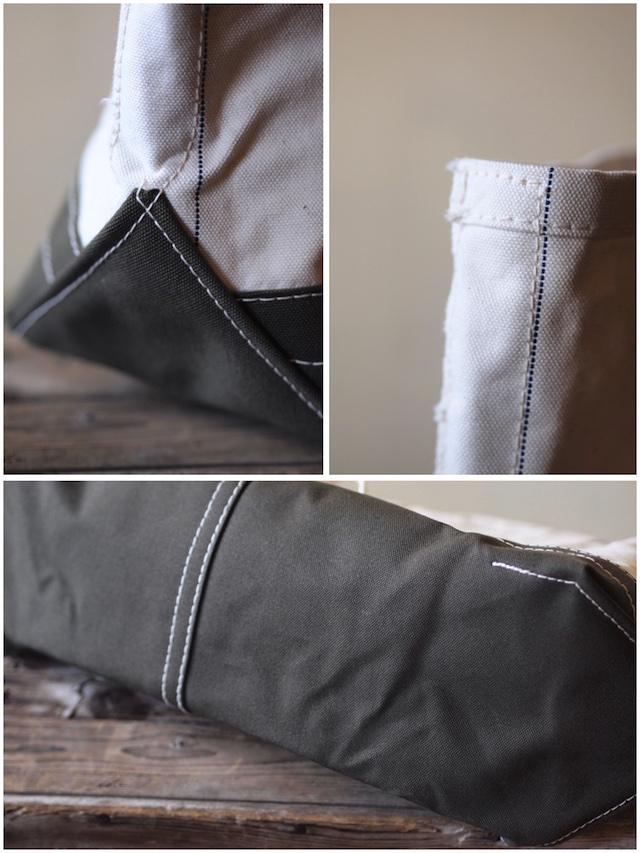 WORKERS Tool Bag 2-Tone Large Long Handle Ecru×Khaki-4