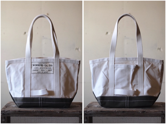 WORKERS Tool Bag 2-Tone Medium Long Handle Ecru×Khaki-2