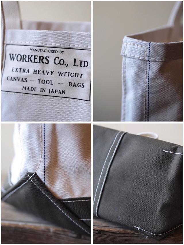 WORKERS Tool Bag 2-Tone Medium Long Handle Ecru×Khaki-4