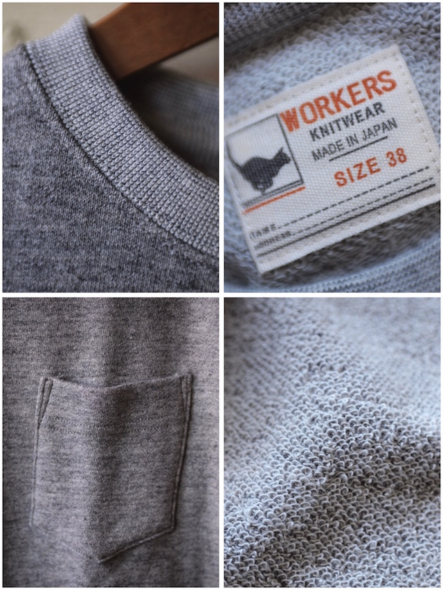 WORKERS UL SS Sweat Shirt Grey 2017-3