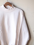 WORKERS USN Cotton Sweater Mock Neck White-Link