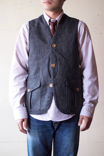 WORKERS Cruiser Vest Homespun Tweed Grey-3